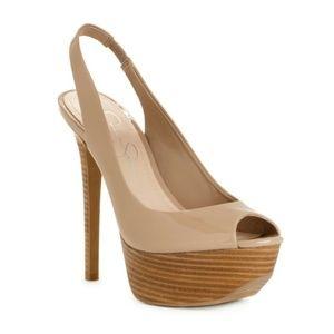 Jessica Simpson Halie Nude Slingback Heel - 8